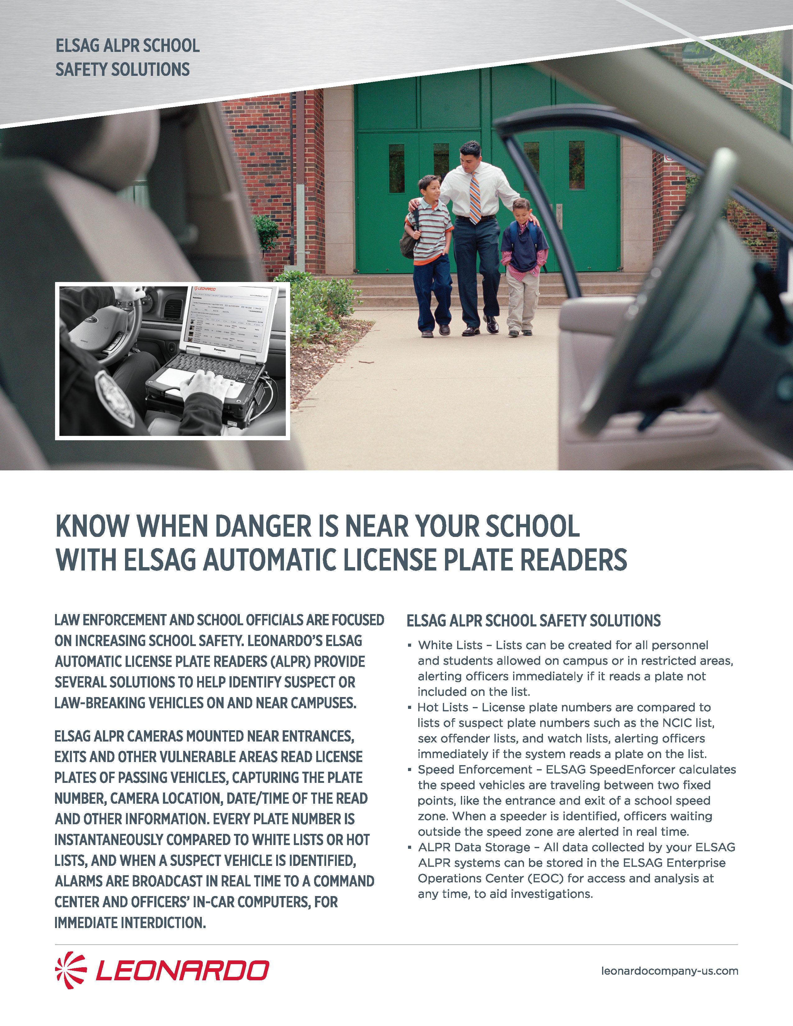 ELSAG fixed plate hunter for school safety