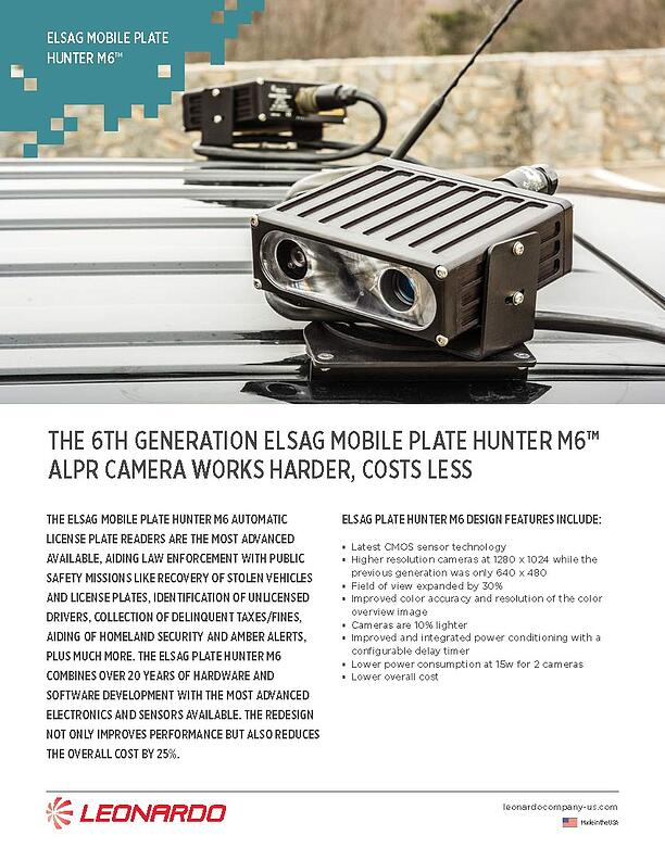 ELSAG M6™ Mobile ALPR System Sell Sheet 2018